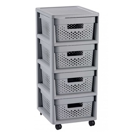 Curver Infinity Chest Perforated 4x11L Gray