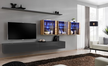 ASM Switch XVII Wall Unit Graphite/Wotan Oak