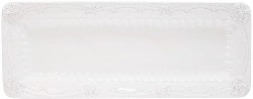 Home4you Plate Rossi 34x12cm White