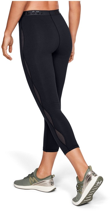 Under Armour Favorite Mesh Crop Leggings 1329317-001 Black S