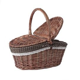 Home4you Olaf Picnic Basket 44x31xH17/39cm Brown