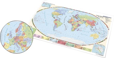 Panta Plast Desk Pad With Two Sided Map Europe And World Map