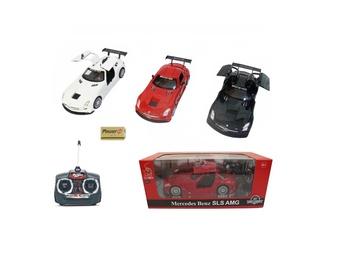 Mänguauto Mercedes, punane, valge, must