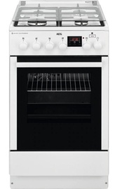 AEG CKB56471BW Gas Cooker White