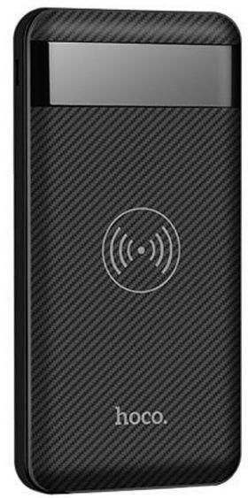 Hoco Multi Port Wireless Qi Plate Power Bank 10000mAh Black