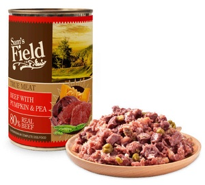 Sam's Field True Meat Beef w/ Pumpkin & Pea Dog Wet Food 400g