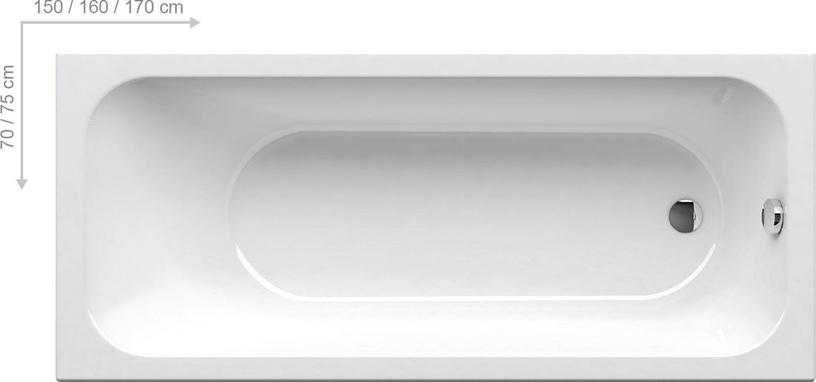 Vann Ravak Chrome, 160 x 70 cm