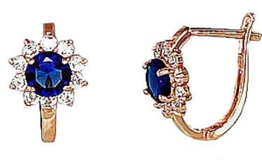 Diamond Sky Gold Earrings Crystal Flower XII