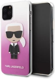 Karl Lagerfeld Gradient Iconic Karl Back Case For Apple iPhone 11 Pro Pink