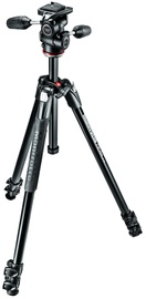 Manfrotto 290 XTRA Three-Section Aluminum Tripod with 3-Way Head