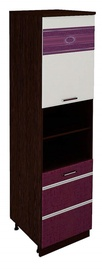DaVita Palermo 08.75.1 Kitchen Bottom Cabinet Wenge Oak/Eggplant/Singa Cream
