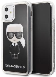 Karl Lagerfeld Iconic Glitter Back Case For Apple iPhone 11 Black