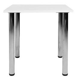Обеденный стол Black Red White Mikla, белый, 750x750x730мм