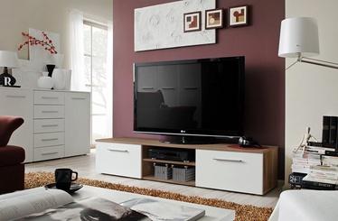 ТВ стол ASM Bono II Plum/White Gloss, 1800x450x350 мм