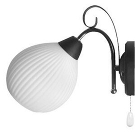 Huan Wall Lamp E14 40W Black/Chrome