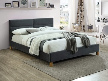 Signal Meble Sierra Velvet Bed 160x200cm Grey