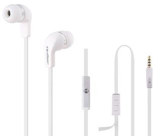 Qoltec In-Ear Headphones w/Mic White