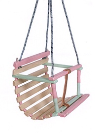 SN Wooden Baby Swing