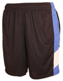 Bars Mens Football Shorts Black/Blue 191 XS