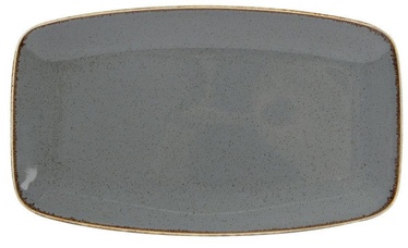 Porland Seasons In-Depth Serving Plate 31x18.4cm Dark Grey