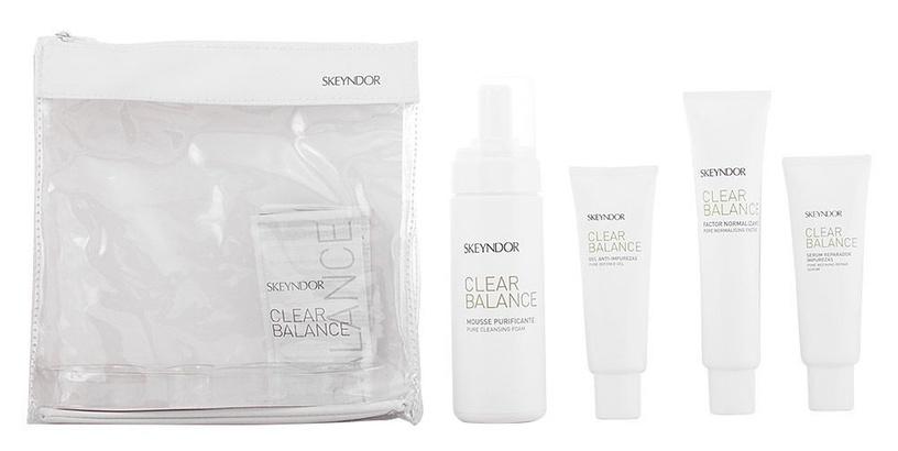 Skeyndor Clear Balance Pure Cleansing Foam 150ml + 50ml Pure Defence Gel + 75ml Pore Normalising Factor + 50ml Pore Refining Repair Serum + Bag