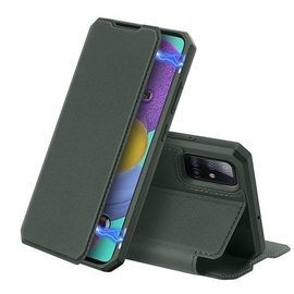 Dux Ducis Skin X Bookcase For Samsung Galaxy A51 Green