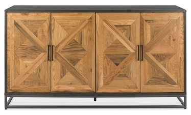 Home4you Indus Chest Of Drawers 159x46xH87cm Mosaic Oak/Black