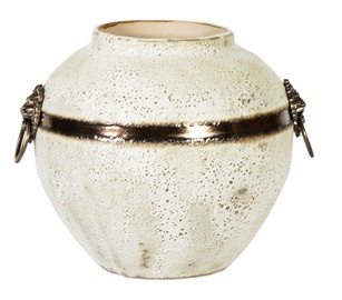 Home4you Leon Ceramic Vase 21cm White