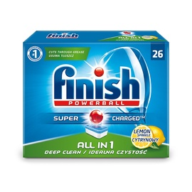 Nõudepesumasinate tabletid Finish All in 1 Powerball, 26 tk