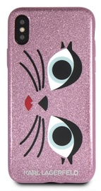 Karl Lagerfeld K-Paris Back Case For Apple iPhone X/XS Pink