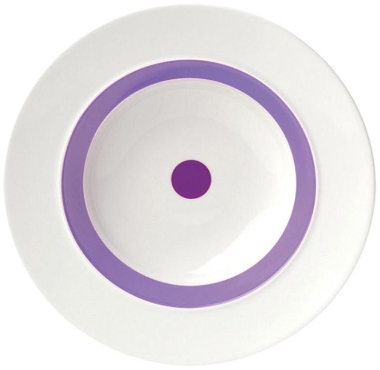 "ViceVersa Soup Plate ""The Dot"" 23.5cm Purple"