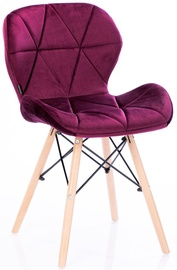 Стул для столовой Homede Silla Velvet Red, 4 шт.