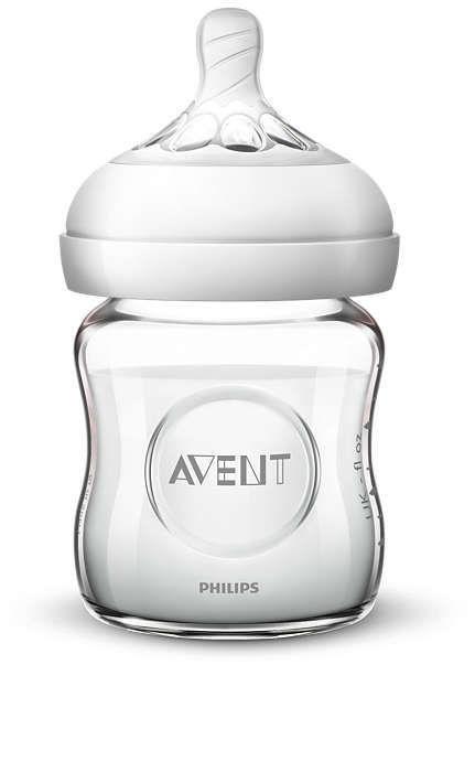 Philips Avent Natural Glass Bottle 125ml SCF 051/17