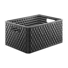 Rotho Storage Box Country With Handles A4 36.8x27.8x19.1cm Black