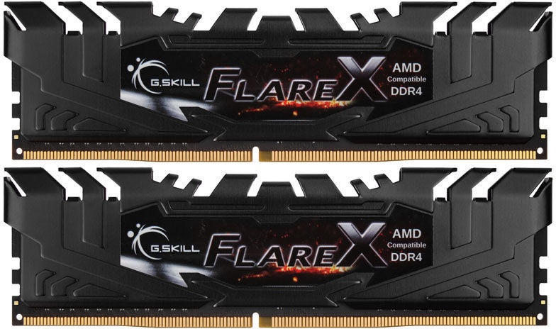 G.SKILL Flare X for AMD Black 16GB 2400MHz CL15 DDR4 KIT OF 2 F4-2400C15D-16GFX