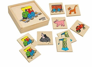 Woodyland Wooden Memory Game Happy Engine 36pcs