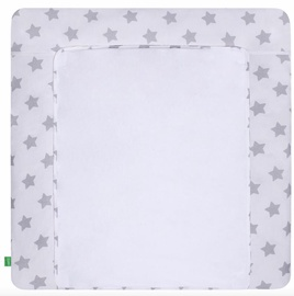 Lulando Changing Table Mat Grey Stars On White 75x80cm