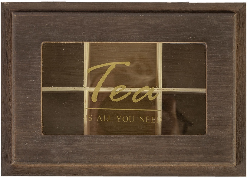 Home4you Tea Box Martha 6x Brown