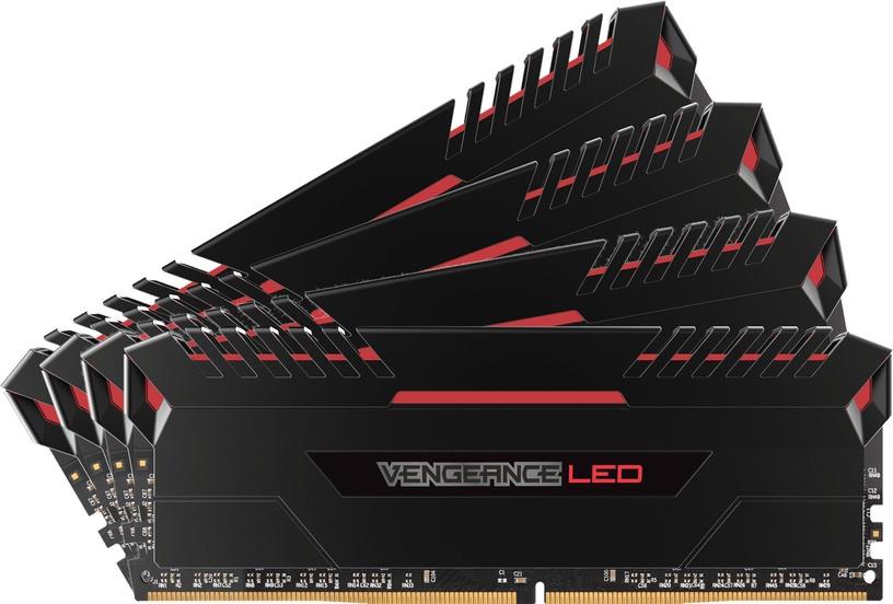 Corsair Vengeance LED Red 32GB 3200MHz CL16 DDR4 KIT OF 4 CMU32GX4M4D3200C16R