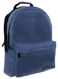 Must Monochrome 2 Compartments Backpack Ripstop Blue