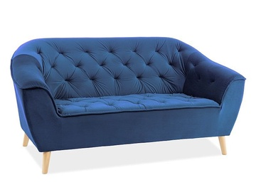 Signal Meble Galaxy 2 Velvet Sofa Navy
