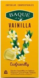 Cafe Baque Vanilla komposteeritavad kohvikapslid, 10 kapslit