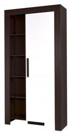 Jurek Meble Cezar Reg 4 Wardrobe Dark Brown/White