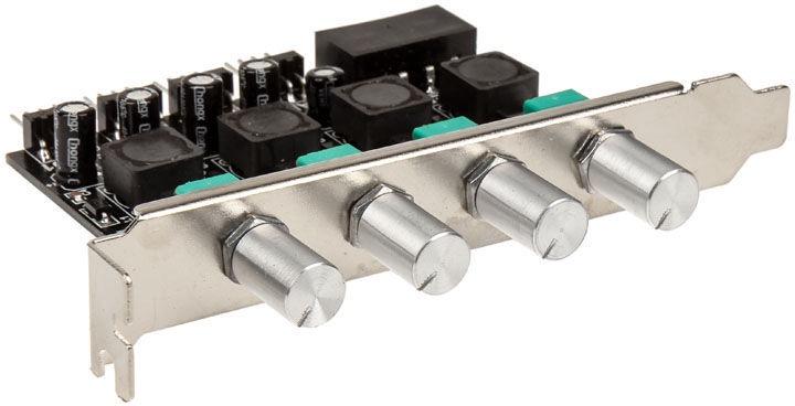 Lamptron CP436 4-Channel Fan Controller for PCI Slot Silver