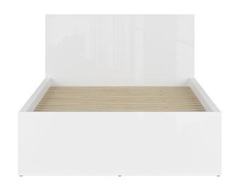 Кровать Black Red White Tetrix A Gloss White, 120 x 200 cm