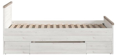 Lastevoodi Black Red White Luca JuZi 90 White/Sonoma Oak, 205x90 cm