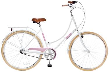 """Jalgratas Grunberg, valge/roosa, 28"""""""