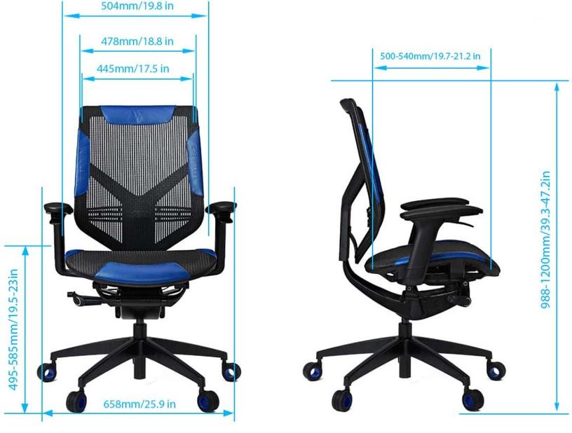 Vertagear Triigger 275 Gaming Chair Black/Blue