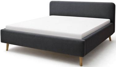 Кровать Meise Möbel Mattis, антрацитовый, 200x160 см