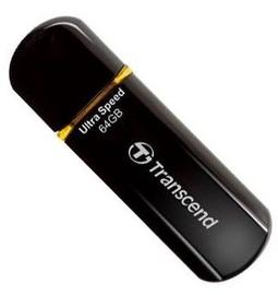 USB флеш-накопитель Transcend Jet Flash 600 Black/Orange, USB 2.0, 64 GB